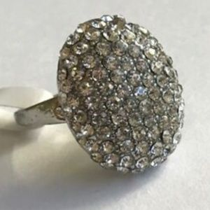 Jewelry - Silver Art Deco Cocktail Ring Size 7 8 9 10 12